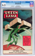 Golden Age (1938-1955):Science Fiction, Green Lama #6 (Spark Publications, 1945) CGC FN+ 6.5 Off-whitepages....