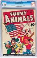 Golden Age (1938-1955):Funny Animal, Funny Animals #8 (Fawcett Publications, 1943) CGC VG/FN 5.0 Creamto off-white pages....