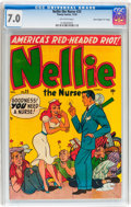 """Golden Age (1938-1955):Romance, Nellie the Nurse #25 Davis Crippen (""""D"""" Copy) pedigree(Timely/Marvel, 1950) CGC FN/VF 7.0 Off-white pages...."""