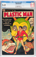 Golden Age (1938-1955):Superhero, Plastic Man #39 (Quality, 1953) CGC VG/FN 5.0 Cream to off-white pages....