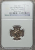 Proof Three Cent Nickels, 1888 3CN -- Harshly Cleaned -- NGC Details. Proof AU. NGC Census:(0/878). PCGS Population (2/1083). Mintage: 4,582....