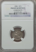 Proof Three Cent Nickels: , 1886 3CN -- Corrosion -- NGC Details. Proof AU. NGC Census: (2/950). PCGS Population (4/1174). Mintage: 4,290. Numismedia W...