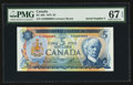 Canadian Currency: , BC-48b $5 1972 Serial Number Five. ...