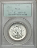 Commemorative Silver: , 1937-D 50C Texas MS63 PCGS. PCGS Population (94/1717). NGC Census:(24/1161). Mintage: 6,605. Numismedia Wsl. Price for pro...