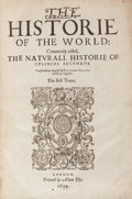 Books:World History, Pliny the Elder. The Historie of the World: Commonlycalled the Naturall Historie of C. Plinius Secundus.Translat...