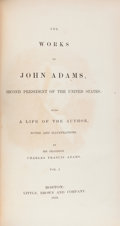 Books:Americana & American History, John Adams. The Works of John Adams, Second President of theUnited States: with a life of the author, notes and i...(Total: 10 Items)