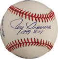 Autographs:Baseballs, Roy Sievers Single Signed Baseball With Eddie Gaedel Content....