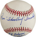 "Autographs:Baseballs, Ron ""Schoolboy"" Teasley Single Signed Baseball With LengthyInscription...."