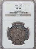 Bust Half Dollars: , 1831 50C AU53 NGC. NGC Census: (121/1038). PCGS Population(145/942). Mintage: 5,873,660. Numismedia Wsl. Price for problem...