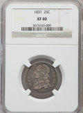 Bust Quarters: , 1837 25C XF40 NGC. NGC Census: (22/192). PCGS Population (29/163). Mintage: 252,400. Numismedia Wsl. Price for problem free...