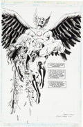 Original Comic Art:Splash Pages, Steve Lieber and Rick Magyar Hawkman #5 Splash Page 6Original Art (DC, 1994).... (Total: 2 Items)