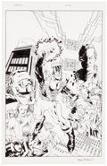 Original Comic Art:Covers, Mark McKone and Mark McKenna Spartan: Warrior Spirit #1Original Art Sketch (Image, 1995)....