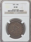 Bust Half Dollars, 1831 50C XF40 NGC. NGC Census: (86/1396). PCGS Population(144/1496). Mintage: 5,873,660. Numismedia Wsl. Price forproblem...