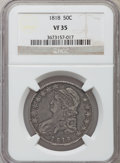 Bust Half Dollars, 1818 50C VF35 NGC. NGC Census: (22/519). PCGS Population (62/612).Mintage: 1,960,322. Numismedia Wsl. Price for problem fr...