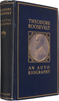 Books:Americana & American History, Theodore Roosevelt. An Autobiography. New York: TheMacmillan Company, 1913. First edition. Inscribed and signed b...