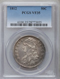 Bust Half Dollars: , 1812 50C Large 8 VF35 PCGS. PCGS Population (86/767). NGC Census:(23/719). Mintage: 1,628,059. Numismedia Wsl. Price for p...