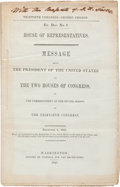 Books:Americana & American History, [James K. Polk]. Thirtieth Congress - Second Session Ex. Doc.No. 1. House of Representatives. Message From the Presiden...