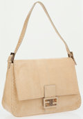 Luxury Accessories:Bags, Fendi Beige Leather Mama Baguette Shoulder Bag . ...