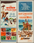 "Movie Posters:Adventure, South Sea Woman & Others Lot (Warner Brothers, 1953). Inserts(2) (14"" X 36""). Adventure.. ... (Total: 2 Items)"