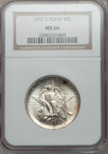 Commemorative Silver: , 1937-S 50C Texas MS66 NGC. NGC Census: (453/101). PCGS Population(453/100). Mintage: 6,637. Numismedia Wsl. Price for prob...