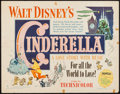 "Movie Posters:Animation, Cinderella (RKO, 1950). Half Sheet (22"" X 28"") Style A. Animation.. ..."