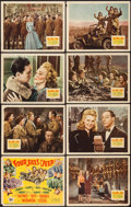 "Movie Posters:War, Four Jills in a Jeep (20th Century Fox, 1944). Lobby Card Set of 8(11"" X 14""). War.. ... (Total: 8 Items)"