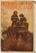 Books:Fiction, Zane Grey. Riders of the Purple Sage. New York and London: Harper & Brothers Publishers, 1912....