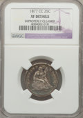 Seated Quarters, 1877-CC 25C -- Improperly Cleaned -- NGC Details. XF. NGC Census:(6/403). PCGS Population (21/485). Mintage: 4,192,000. Nu...
