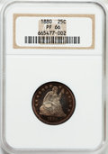 Proof Seated Quarters, 1880 25C PR66 NGC....