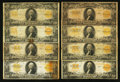 Large Size:Gold Certificates, Fr. 1186 $20 1906 Gold Certificates Two Examples. Fr. 1187 $20 1922Gold Certificates Nineteen Examples. . ... (Total: 21 notes)