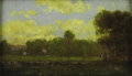 Texas:Early Texas Art - Impressionists, JULIAN ONDERDONK (1882-1922). Landscape. Oil on panel. 5in.x 8in.. Signed lower left. It has been said that Julian On...