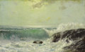 Texas:Early Texas Art - Impressionists, JULIAN ONDERDONK (1882-1922). Crashing Surf. Oil on academyboard. 5.5in. x 9in.. Signed lower right. Julian Onderdonk...