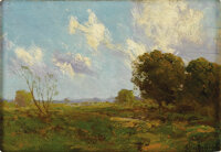 JULIAN ONDERDONK (1882-1922) Late Afternoon, 1909 Oil on wood panel 6in. x 8.5in. Signed lower right Signed, dated