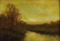 Texas:Early Texas Art - Impressionists, JULIAN ONDERDONK (1882-1922). The Golden Hour. Oil oncanvas. 14in. x 20in.. Signed lower left. After studying with Ch...