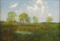 Texas:Early Texas Art - Impressionists, JULIAN ONDERDONK (1882-1922). Late Afternoon, 1909. Oil oncanvas. 14in. x 20in.. Signed lower left. In 1906 Julian On...