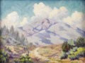 Paintings, LUCILLE LEGGETT (1896-1965). Summer Afternoon. Oil on canvasboard. 18in. x 24in.. Signed lower right. Titled verso. Th...
