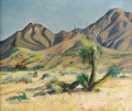 Texas:Early Texas Art - Regionalists, LOIS DENTON (1887-1980). Rows End, 1940. Oil on burlap.20in. x 24in.. Signed lower left. Lois Denton moved to El Paso...