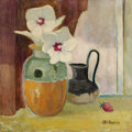 Texas:Early Texas Art - Regionalists, OTIS DOZIER (1904-1987). Hibiscus and Strawberry, 1978. Oilon masonite. 24in. x 24in.. Signed lower right. ...