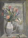 Texas:Early Texas Art - Regionalists, Flora Blanc Reeder (1916-1995) Still Life, c.1930s Oil on canvasboard 16 x 12in. Signed lower right: Flora Blanc P...