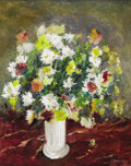 Texas:Early Texas Art - Impressionists, FRANK GERVASI (1895-1986). Still Life with Flowers. Oil oncanvas. 24in. x 20in.. Signed lower right. A Sicilian-born ...