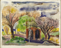 VERA WISE (1892-1978) Untitled, 1930's - 1940's Watercolor 22.5in. x 28.5in. Signed lower left  Vera Wise studied