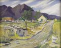 Texas:Early Texas Art - Impressionists, FRANK GERVASI (1895-1986). Field Scene. Oil on masonite.16in. x 20in.. Signed lower left. A Sicilian-born artist who ...