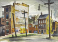 Texas:Early Texas Art - Regionalists, WILLIAM ELLIOTT (1909-2001). Slums, Cincinnati, OH, 1940.Watercolor on paper. 14.5in. x 19in.. Titled, signed, and date...