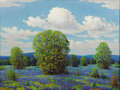 Texas:Early Texas Art - Regionalists, DWIGHT HOLMES (1900-1985). Bluebonnets, 1981. Oil on canvas.30in. x 40in.. Signed and dated lower left. Holmes was 81...