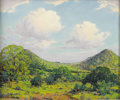 Texas:Early Texas Art - Regionalists, DWIGHT HOLMES (1900-1985). Untitled Landscape. Oil oncanvasboard. 20in. x 24in.. Signed lower left. This Dwight Holme...