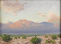 Texas:Early Texas Art - Impressionists, EUGENE THURSTON (1896-1993). Guadalupe Mountains, 1926. Oilon burlap board. 10in. x 14in.. Signed lower left. Titled an...