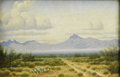 Texas:Early Texas Art - Regionalists, JOSE ACEVES (1909-1968). Los Potrillos Mts., before 1932.Oil on canvas. 8in. x 12in.. Signed lower left. Titled verso. ...