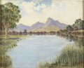 Texas:Early Texas Art - Regionalists, LEWIS TEEL (1913-1995). El Lago de San Jose, before 1932.Oil on canvas. 16in. x 20in.. Signed lower left. Before the ...