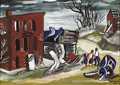 Texas:Early Texas Art - Regionalists, KELLY FEARING (1918-). Departure, 1942. Gouache. 14.5in. x19.5in.. Signed and dated lower right. Titled lower left. T...