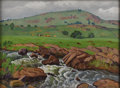 Texas:Early Texas Art - Regionalists, FRED DARGE (1900-1978). Rapid Water. Oil on canvasboard. 12in. x 16in.. Signed lower right. Utilizing a dramatic foreg...